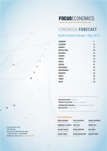 South Eastern Europe Macroeconomic Forecast