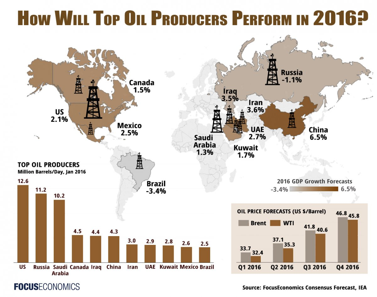 Who are the Largest Oil Producing Countries?