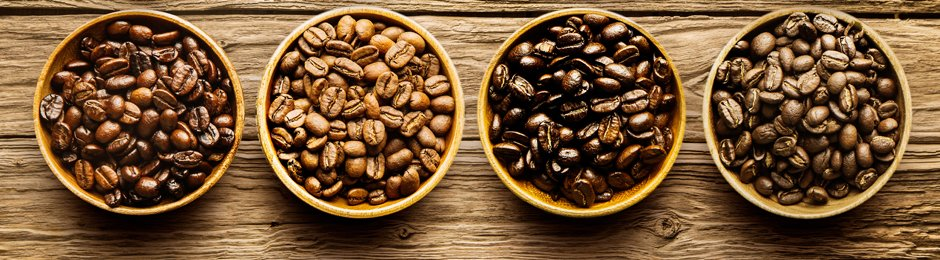 coffee beans in bowls
