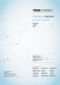 Bosnia and Herzegovina Macroeconomic Forecast
