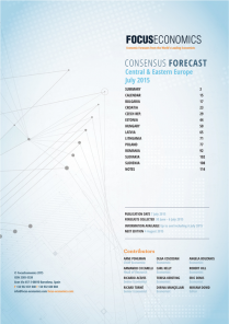 Central & Eastern Europe Macroeconomic Forecast